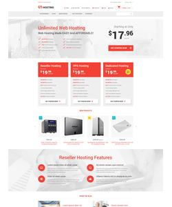 Magento e-shop šablona na téma Hosting č. 54805