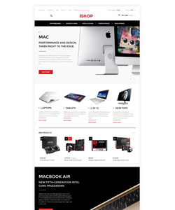 Magento e-shop šablona na téma Počítače č. 57699