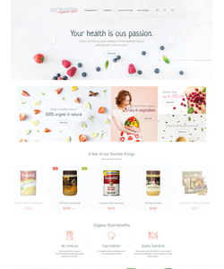 Magento e-shop šablona na téma Jídlo a pití č. 58960