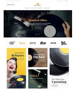 Magento e-shop šablona na téma Hudba č. 61422