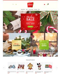 Magento e-shop šablona na téma Vánoce č. 62086