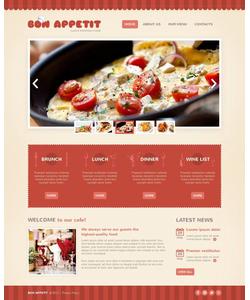 Moto CMS HTML šablona na téma Café a restaurace č. 45106