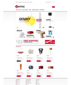 Magento e-shop šablona na téma Interiér a nábytek č. 47328