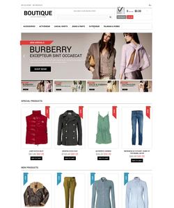 Magento e-shop šablona na téma Móda č. 47455