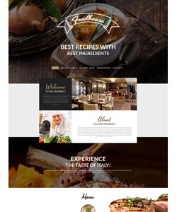 Moto CMS HTML šablona na téma Café a restaurace č. 58475