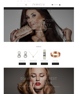 Moto CMS e-shop šablona na téma Šperky č. 58487