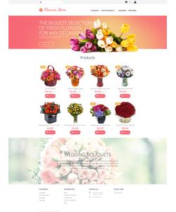 Moto CMS e-shop šablona na téma Květiny č. 58838