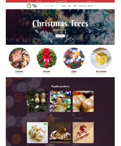 Moto CMS e-shop šablona na téma Vánoce č. 59281