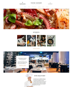 Moto CMS 3 šablona na téma Café a restaurace č. 59435