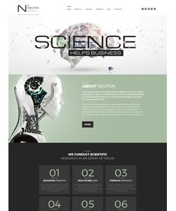 Moto CMS 3 šablona na téma Věda č. 59475