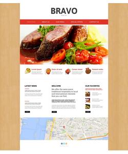Moto CMS HTML šablona na téma Café a restaurace č. 49435