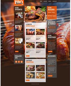 Moto CMS HTML šablona na téma Café a restaurace č. 52624