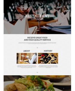 Moto CMS HTML šablona na téma Café a restaurace č. 53062