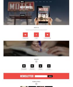 Moto CMS HTML šablona na téma Hotely č. 53629
