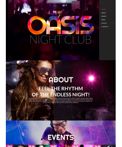 Moto CMS HTML šablona na téma Noční kluby č. 55670