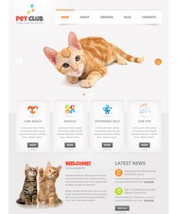Moto CMS HTML šablona na téma Zvířata č. 41013