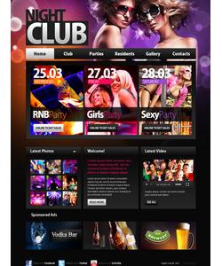 Moto CMS HTML šablona na téma Noční kluby č. 41087