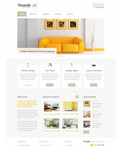 Moto CMS HTML šablona na téma Interiér a nábytek č. 41856
