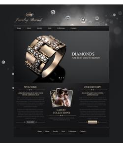Moto CMS HTML šablona na téma Šperky č. 41946
