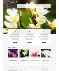 Moto CMS HTML šablona na téma Květiny č. 42171