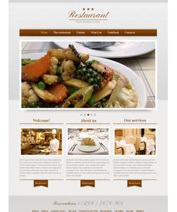 Moto CMS HTML šablona na téma Café a restaurace č. 42463