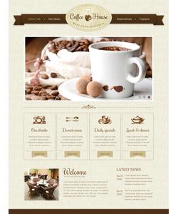 Moto CMS HTML šablona na téma Café a restaurace č. 42727