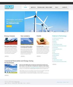 Moto CMS HTML šablona na téma Alternativní energie č. 43395