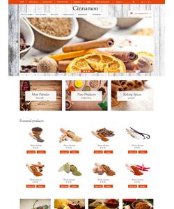 OpenCart e-shop šablona na téma Jídlo a pití č. 50115