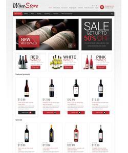 OpenCart e-shop šablona na téma Jídlo a pití č. 50756