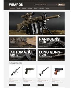OpenCart e-shop šablona na téma Vojenské č. 51070