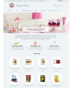 OpenCart e-shop šablona na téma Jídlo a pití č. 51774