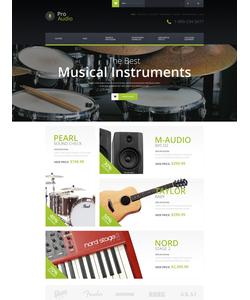 OpenCart e-shop šablona na téma Hudba č. 52109