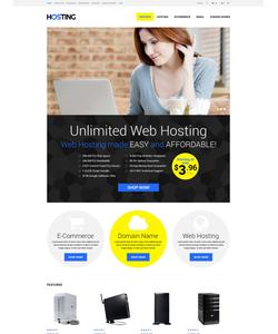 OpenCart e-shop šablona na téma Hosting č. 52353