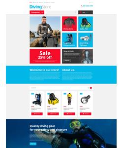 OpenCart e-shop šablona na téma Sport č. 53552