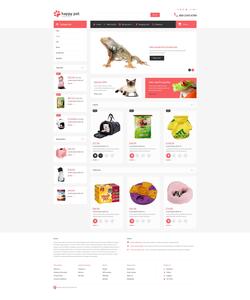 OpenCart e-shop šablona na téma Zvířata č. 53712