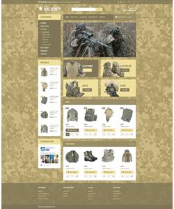 OpenCart e-shop šablona na téma Vojenské č. 54712