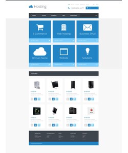 OpenCart e-shop šablona na téma Hosting č. 54797