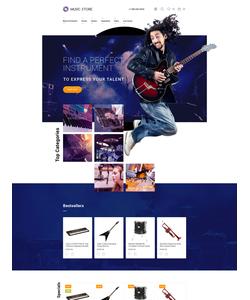 OpenCart e-shop šablona na téma Hudba č. 57715