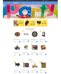 OpenCart e-shop šablona na téma Dárky č. 58036
