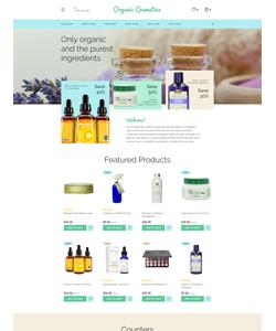OpenCart e-shop šablona na téma Krása č. 58207