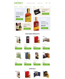 OpenCart e-shop šablona na téma Jídlo a pití č. 58292