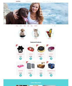 OpenCart e-shop šablona na téma Zvířata č. 58332
