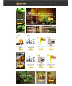 OpenCart e-shop šablona na téma Pivovar č. 62057