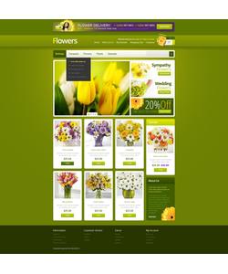 OpenCart e-shop šablona na téma Květiny č. 39766