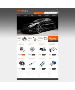 OpenCart e-shop šablona na téma Auta č. 40220