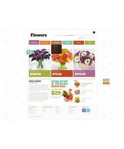 OpenCart e-shop šablona na téma Květiny č. 40524