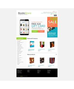 OpenCart e-shop šablona na téma Knihy č. 43115