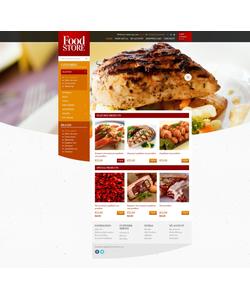 OpenCart e-shop šablona na téma Jídlo a pití č. 43629