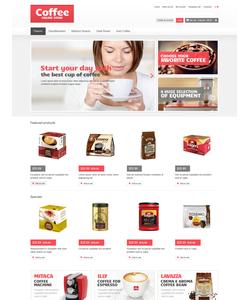 OpenCart e-shop šablona na téma Café a restaurace č. 46799