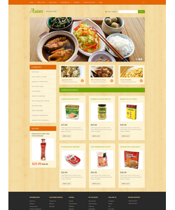 OpenCart e-shop šablona na téma Jídlo a pití č. 47066